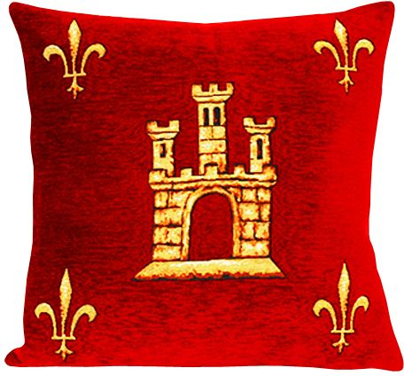 Saint Chapelle Tapestry Cushion Cover - Classic Home Decor Collection, 18in x 18in cushion cover