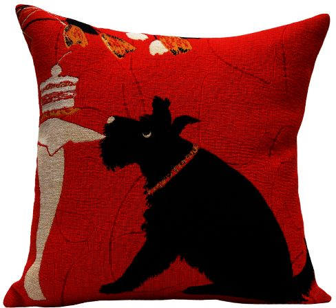 Scottish Tapestry Cushion Cover - Pets Home Decor Collection, 18in x 18in cushion cover