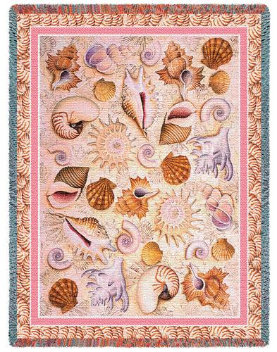 Seashells Tapestry Throw, 54in x 70in