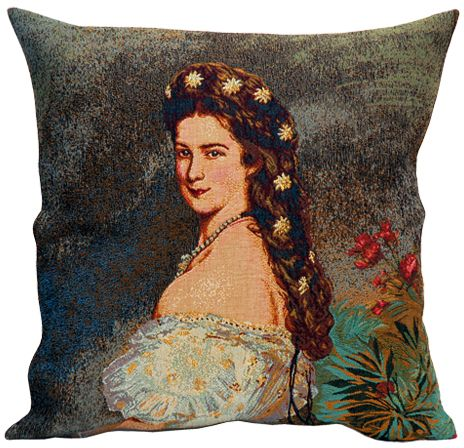Sissi II Tapestry Cushion Cover - European Home Decor Collection, 18in x 18in cushion cover