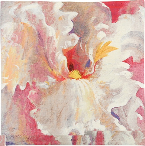 Smallest Of Dreams Contemporary Floral Tapestry - from the art work of Simon Bull, 21in x 21in