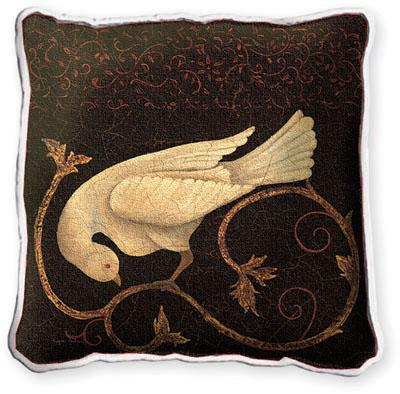 Songbird Fresco Asian Tapestry Cushion, 17in x 17in