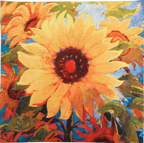 Spellbound Contemporary Floral Tapestry - from the art work of Simon Bull, 21in x 21in