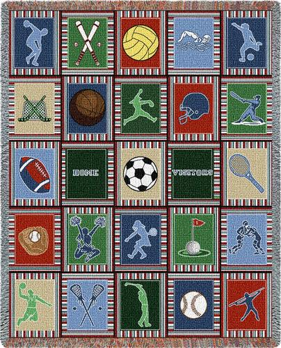 Sport Quilt Tapestry Throw, 54in x 70in