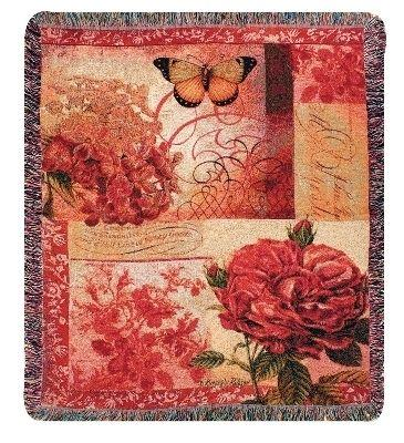 Spring Blooms Tapesty Throw, 51in x 68in
