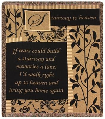 Stairway to Heaven Tapesty Throw, 50in x 60in