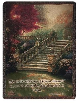 Stairway to Paradise Tapesty Throw, 51in x 68in