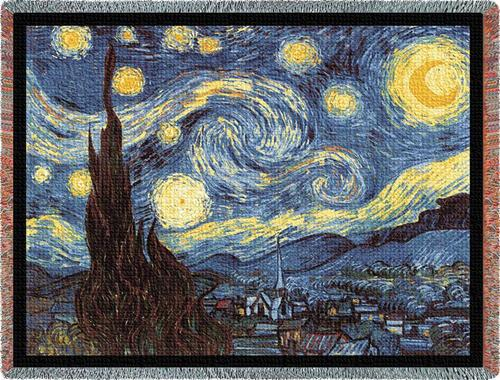 Starry Night Tapestry Throw, 54in x 70in