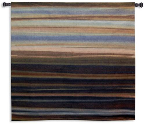 Striedescent Tapestry Wall Hanging, 53in x 53in - Contemporary Abstract