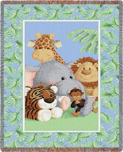 Stuffed Safari Mini Tapestry Throw, 35in x 54in