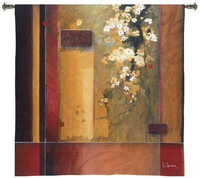Summer Bloom Modern Tapestry Fine Art Picture, 31in x 31in