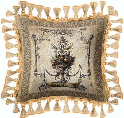 Summer Harvest Ornamental Tapestry Cushion - Fruits Picture, 27in x 27in