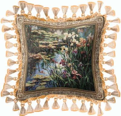 Summer Lily Landscape Tapestry Cushion, 27in x 27in