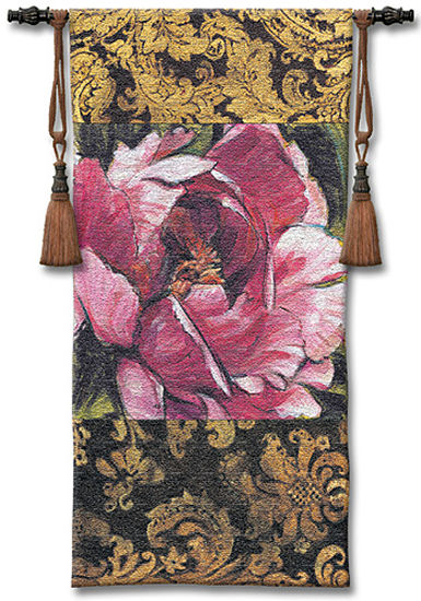 Summer'S Bounty Tapestry Wall Hanging - Floral Picture, 26in x 55in