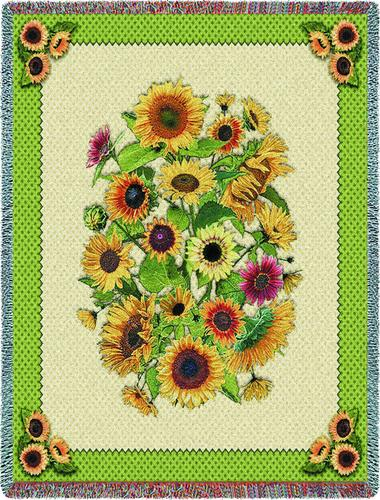 Sunflowers Tapestry Throw, 54in x 70in