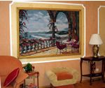Sunset Over Caribbean Tapestry  In Classic Interior Style