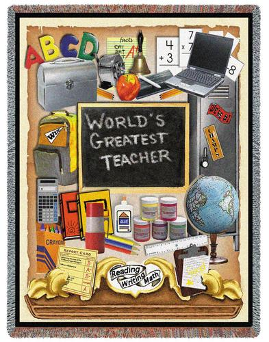 Teachers Pride Tapestry Throw, 54in x 70in
