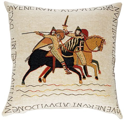 The Chevaliers Tapestry Cushion Cover - European Home Decor Collection, 18in x 18in cushion cover