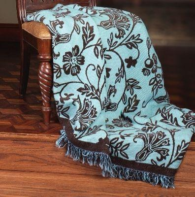 The Chocolate Blues Tapesty Throw, 51in x 68in