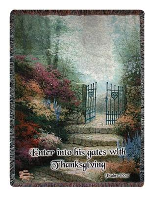 The Garden of Promise Tapesty Throw, 51in x 68in
