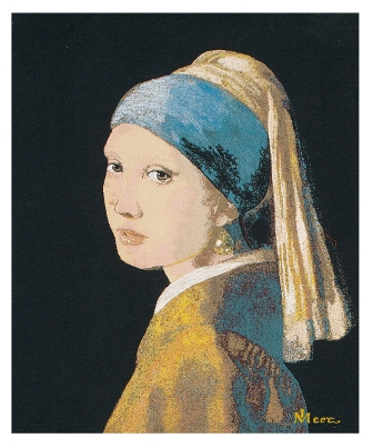 The Girl With The Pearl Earing Tapestry Tapestry, 24in x 17in