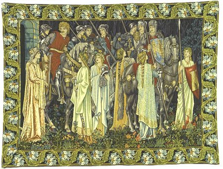 Arthurian Medieval Tapestry The Quest for the Holy Grail - Knight Medieval Pictures, 49in x 66in