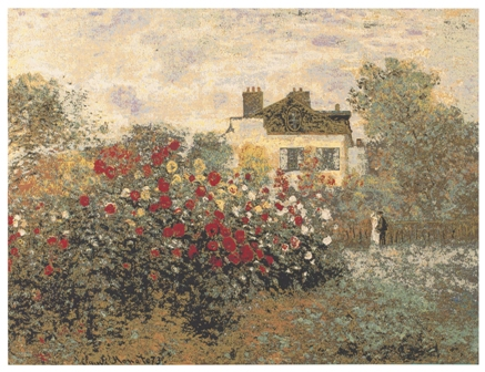 The House Of Claude Monet Tapestry Wall Hanging, 28in x 35in