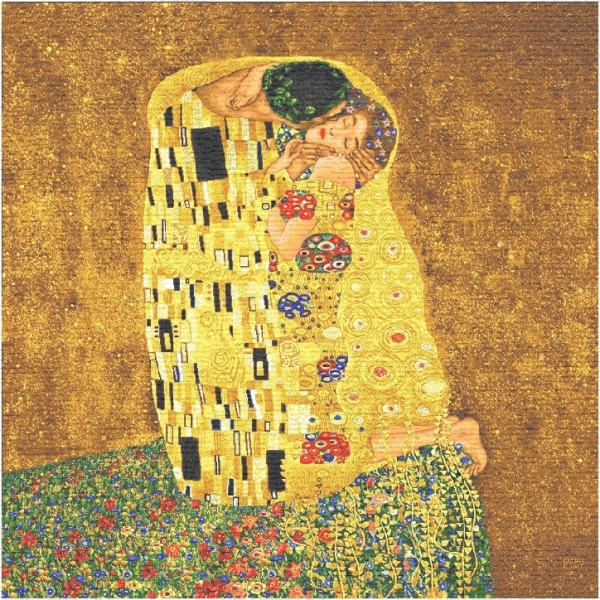The Kiss Klimt Small Tapestry, H28in x W28in