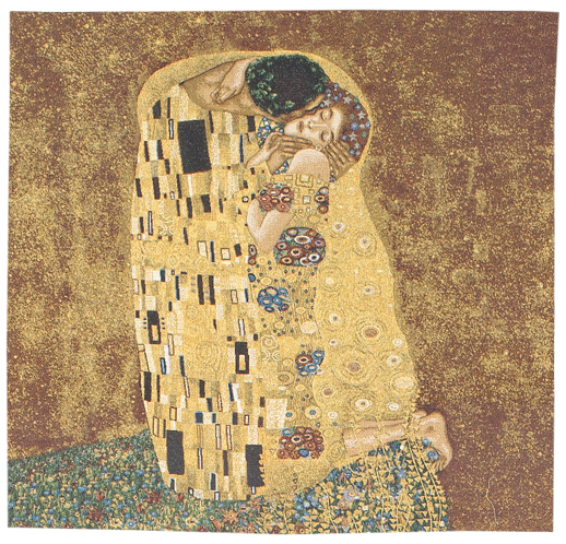 The Kiss by Gustav Klimt Tapestry Wall Hanging, 28in x 28in