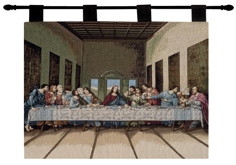 The Last Supper Tapestry Wall Hanging - Religious Picture, 26in X 36in