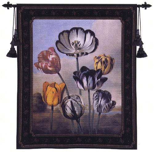 The Temple Of Flora Botanical Tapestry - Contermporary Floral Design, 35in x 42in