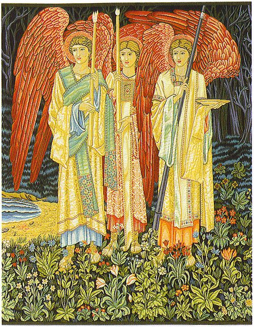 William Morris Tapestry The Vision From The Holy Grail Tales (Center Panel), 27in X 23in