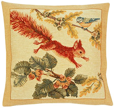 Tic Tapestry Cushion Cover - Animal Home Decor Collection, 18in x 18in cushion cover