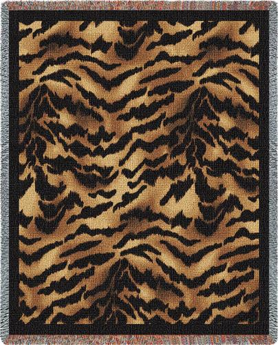 Tiger Skin Tapestry Throw, 53in x 70in