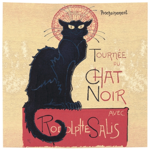 Tournee Du Chat Noir Cushion Cover, 18in x 18in unfinished panel