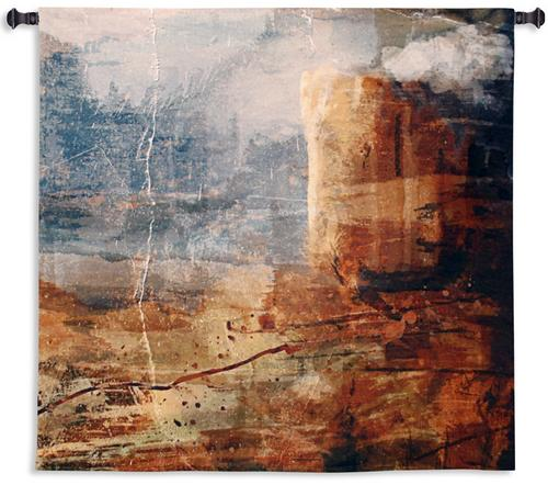 Transition Tapestry Wall Hanging, 53in x 53in - Contemporary Abstraction