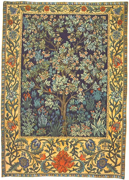 Tree Of Life Wall Tapestry - William Morris Design, 26in X 19in