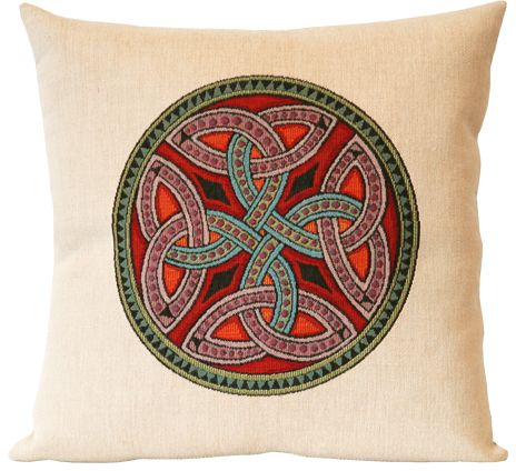 Trinite Celtic Design Tapestry Cushion Cover - Classic Home Decor Collection, 18in x 18in cushion cover