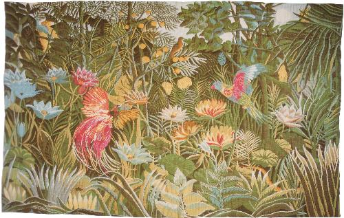 Tropical Enchantment Landscape Tapestry Wall Hanging, 29in X 47in