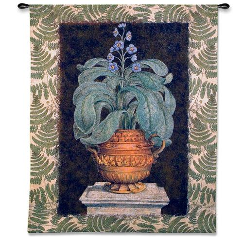 Tropical Urn I Still Life Wall Tapestry, 42in x 53in
