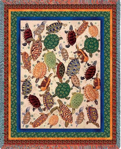 Turtles Tapestry Throw, 70in x 54in