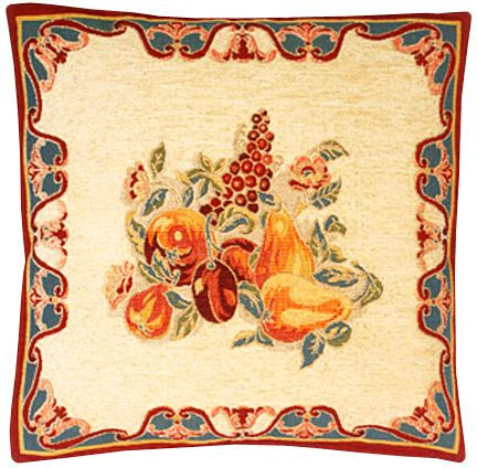 Tutti Frutti Tapestry Cushion Cover - European Home Decor Collection, 18in x 18in cushion cover