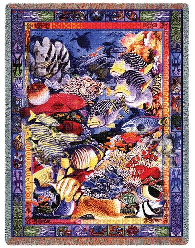 Undersea Paradise Tapestry Throw, 54in x 70in