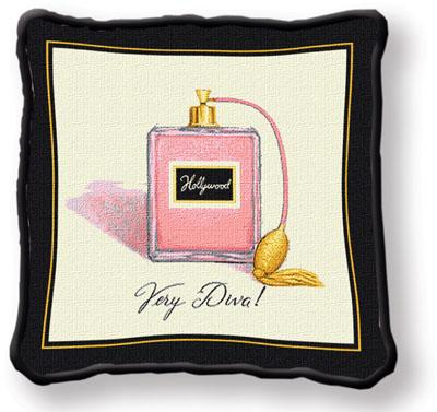 Very Diva Contemporary Tapestry Cushion - Fashion Design, 17in x 17in