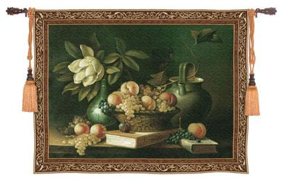 Vianchies Grapes Still Life Wall Tapestry - Flowers & Fruits Picture, 53in x 43in