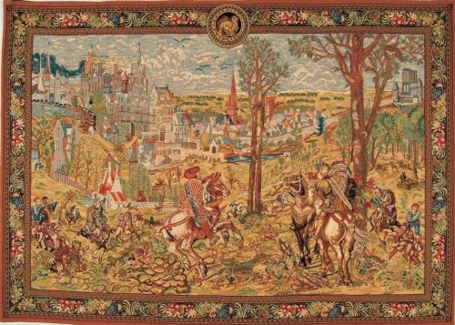 WALL TAPESTRY VIEUX BRUSSELS MAXIMILIAN HUNTER HORSE