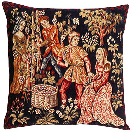 Vigne Tapestry Cushion Cover - Classic Home Decor Collection, 18in x 18in cushion cover