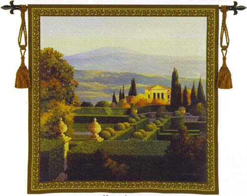 Villa D' Orcia Landscape Tapestry Wall Hanging, 35in x 35in