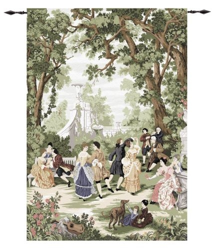 Renaissance Tapestry Waltz In The Park, 80in X 56in