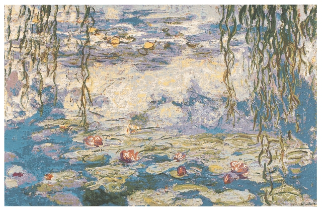 Water Lilies (Monet- Les Nympheas) Tapestry, 55in x 70in
